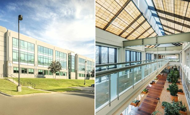 The Cambridge is a 350,000-square-foot office building in University Research Park in Charlotte, NC.