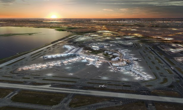 A rendering of the expanded and improved JFK International Airport in Queens, NY.