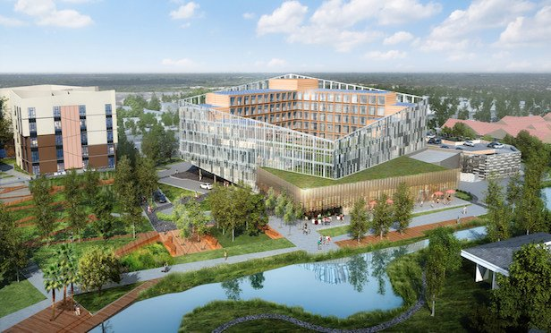 A rendering of the mixed-use M Social Sunnyvale development.