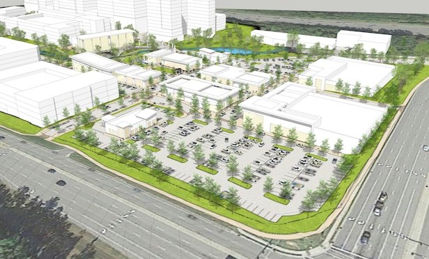 A rendering of the planned Park Center project in Research Triangle Park.