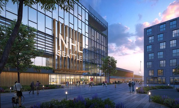 NHL Seattle officials say the group is committed to building the most environmentally sustainable practice facility in the NHL at Northgate using structural wood products indigenous to the Pacific Northwest. Credit: NHL Seattle