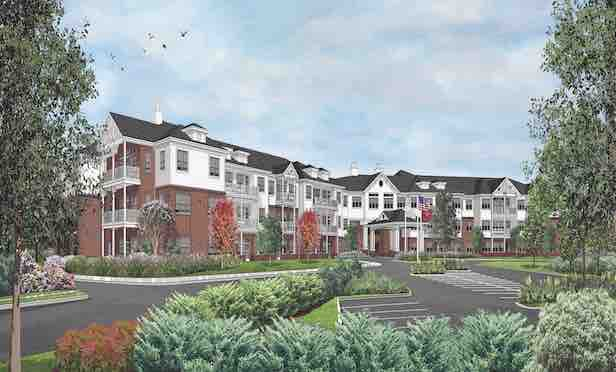 A rendering of the HarborChase Cordova  senior living community in Memphis.