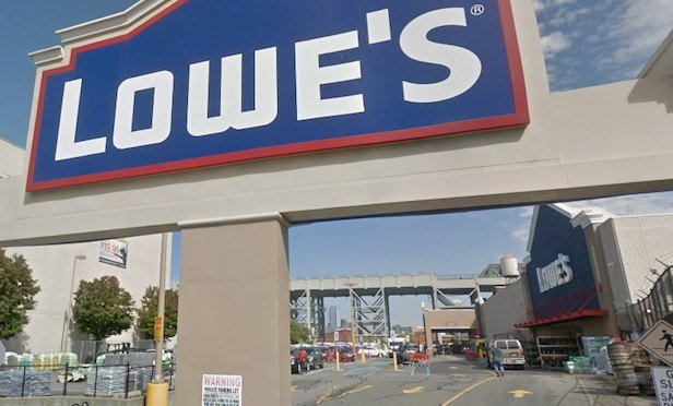 The Lowe's at 118 Second Ave. in Brooklyn is not on the store closure list released today by the retailer. However, two locations in Manhattan have already permanently closed. (Image credit: Google Maps)