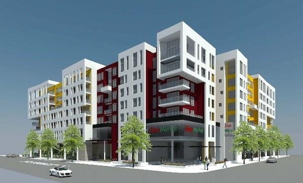 A rendering of Rise Koreatown in Los Angeles.