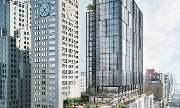 A rendering of the redeveloped One Madison Ave.