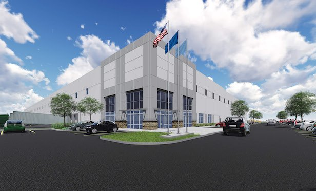 A rendering of the speculative office building at 7951 Oceano Ave. in Jessup, MD.