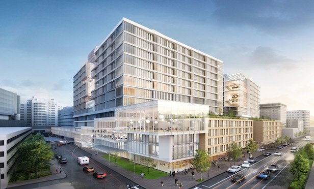 A rendering of the completed Massachusetts General Hospital's expansion of its downtown campus. Rendering Courtesy of NBBJ