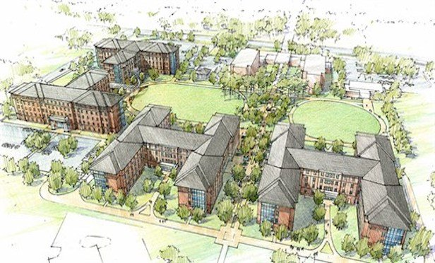 The project at full build-out will deliver 1,814 student beds.
