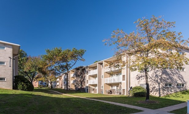 Exterior photo of Walker Mill Apartments. Credit: Jeffrey Sauers of Commercial Photographics, Architectural Photo Artistry