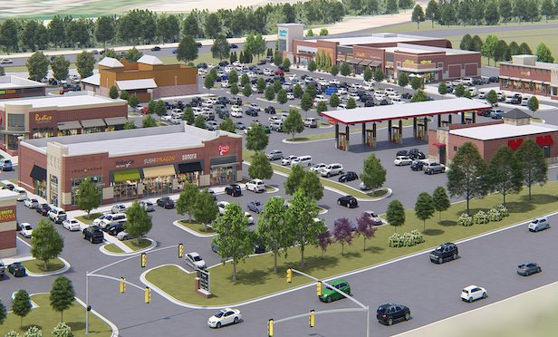 A rendering of the 90,000-square-foot Riverside Square in Ashburn, VA.