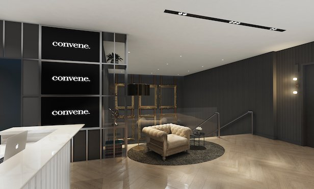 A rendering of Convene's space at Terrell Place.