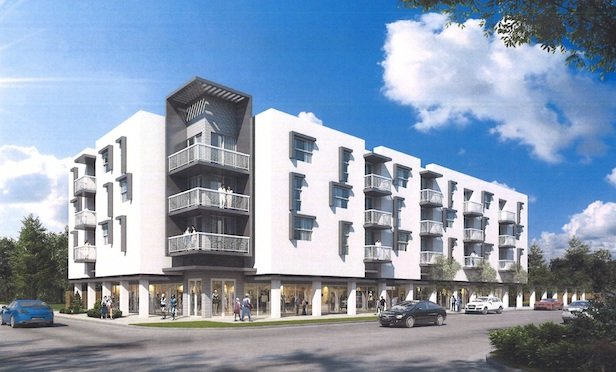 A rendering of the Dr. Alice Moore Apartments development in West Palm Beach.