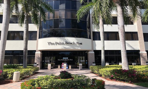 The Palm Beach Post building is located at 2751 South Dixie Highway in West Palm Beach, FL.