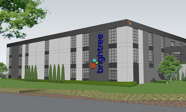 A rendering of Brightree's new headquarters in Peachtree Corners, GA.