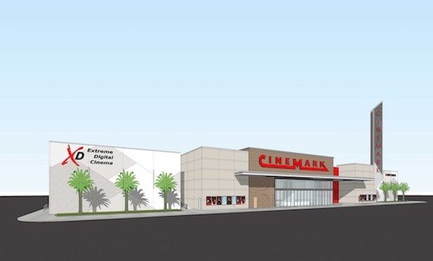 A rendering of the new Cinemark theatre at the Atlantic North shopping center in Jacksonville. The theatre will have approximately 1,300 seats and breaks ground in September.
