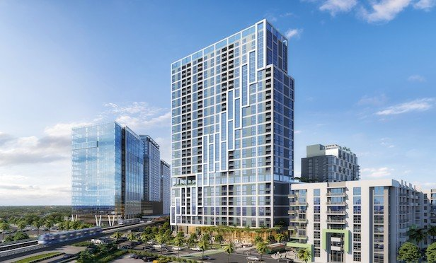 A rendering of the Link at Douglas mixed-use development.
