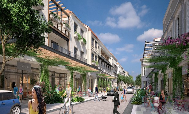 A rendering of Rosemary Square in West Palm Beach, FL.