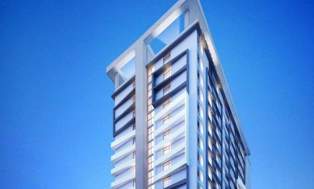 A rendering of the planned 218-key dual branded hotel Home 2/Tru by Hilton in Fort Lauderdale.
