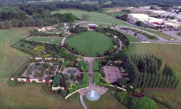 Aerial of Arboretum at Penn State.