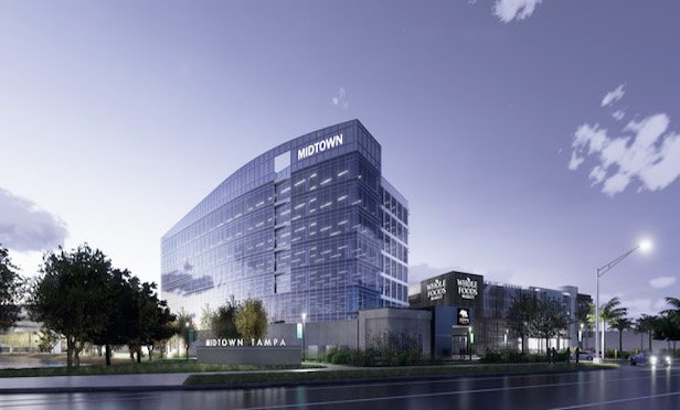 A rendering of the Midtown One speculative office building in Tampa, FL.
