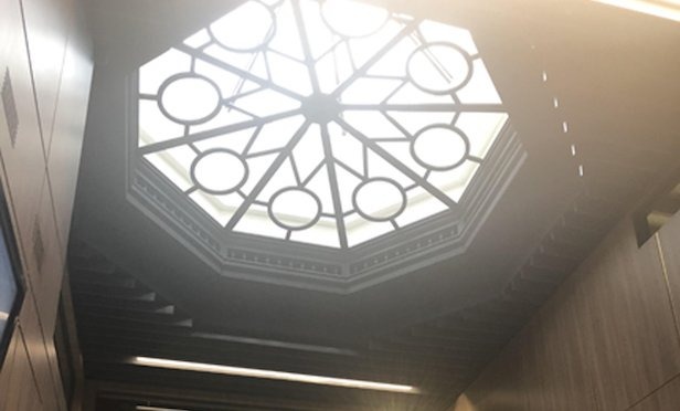 Paramount's new offices are located on 45 Academy St.'s fourth and fifth floors. The space includes a rotunda skylight, which serves as the focal point of a new company conference room.