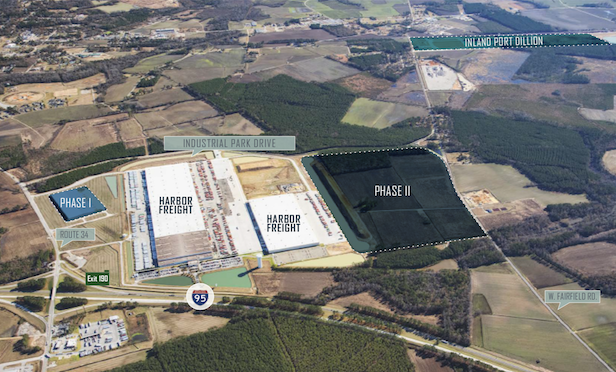An aerial of the 95 Inland Port Logistics Center.