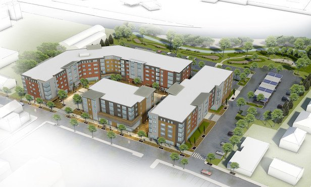 A rendering of the 21 East St. project in North Attleborough, MA. Photo Credit: Jones Street Investment Partners