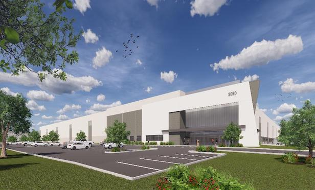 A rendering of Crow Holdings Industrial's new 925,000-square-foot project in Franklin, Township, NJ.