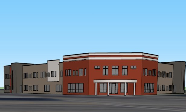 The multi-phased Clay Center project is being built on three acres and will involve approximately 50,000-square-feet of clinic, housing and support space.