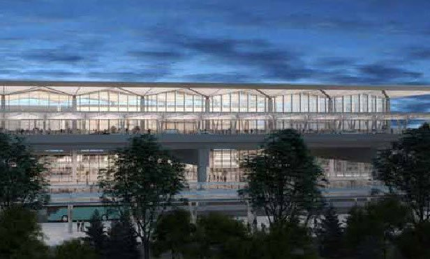 A rendering of the Newark Liberty Terminal One project.