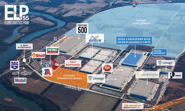 The rebranded Elion Logistics Park has the potential to house more than 30 million square feet of distribution space.
