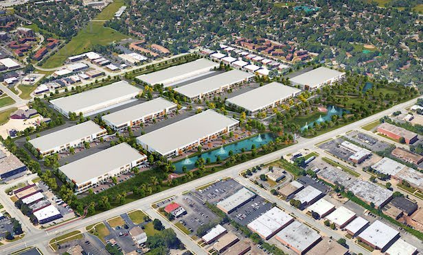 An aerial of Elk Grove Technology Park. Credit: Brennan Investment Group.