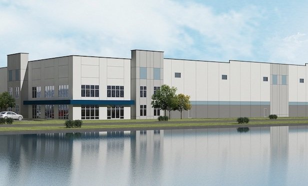 A rendering of the speculative Whiteland Exchange industrial project in Whiteland, IN.