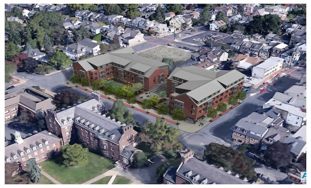 A rendering of the McCartney Street student housing project in Easton, PA. Photo Courtesy of the Radnor Property Group