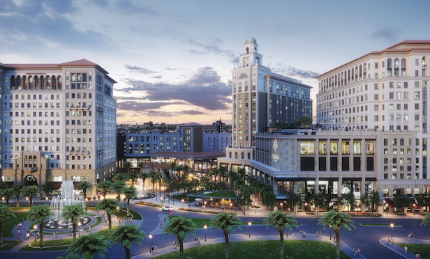A rendering of The Plaza Coral Gables mixed-use development.