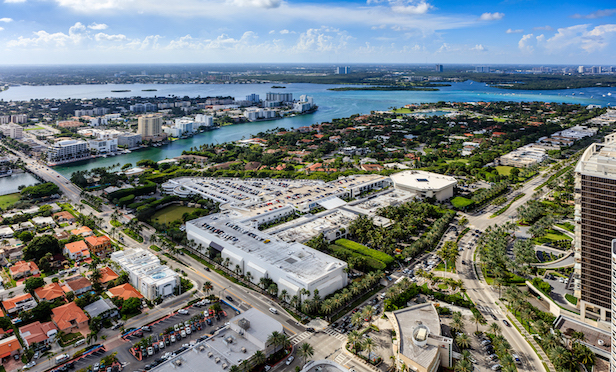 An aerial of Bal Harbour Shops, Bal Harbour, FL