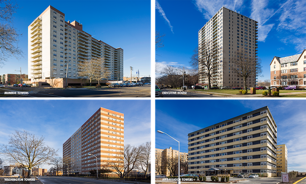 The seven-property multifamily portfolio totals 1,035 units.