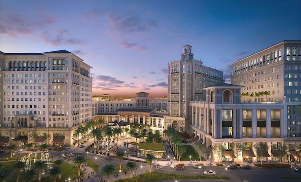 The Plaza in Coral Gables represents the largest new construction project in Coral Gables since the city's inception in the 1900s.