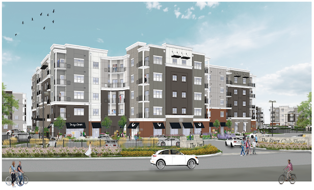 A rendering of the mixed-use project in Bogata, NJ. Credit: PCD Capital