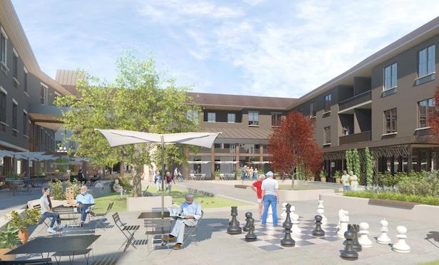 A rendering of the new senior project in Montvale, NJ.