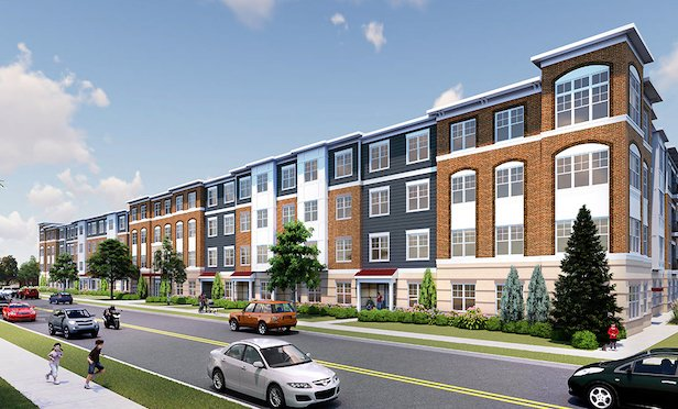 A rendering of the 220-unit Englewood Circle project.