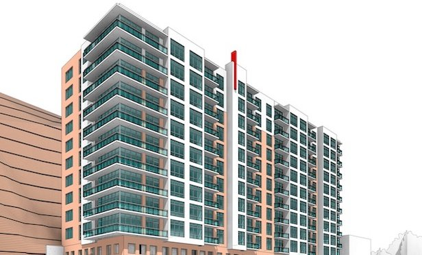 Rendering of Skyline Development Group's first project in North Bergen, NJ.