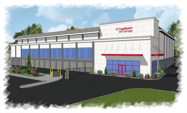 A rendering of the new CubeSmart self-storage facility in Montville, NJ.