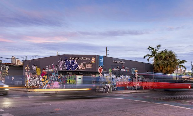 A parcel in the Wynwood section of Miami that was part of the parcel assemblage acquired by a joint venture of PMG Acquisitions and Greybrook Realty Partners.