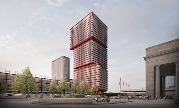 Rendering of East and West Towers. Credit: PAU