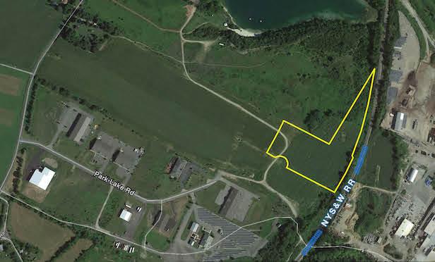 An aerial map of 13 Aaron Way, Sparta, NJ.