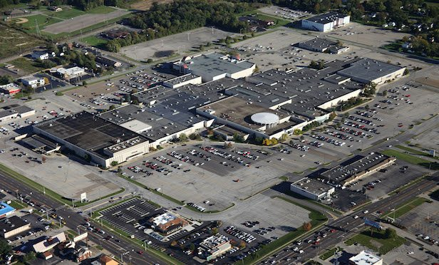 An aerial view of the Southern Park Mall in Youngstown, OH.