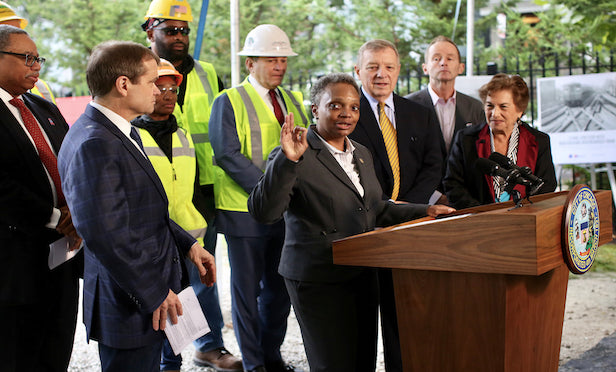 Chicago Mayor Lori Lightfoot joined other city officials and Chicago Transit Authority executives on Wednesday at the groundbreaking of phase one of the Red and Purple Modernization Project.