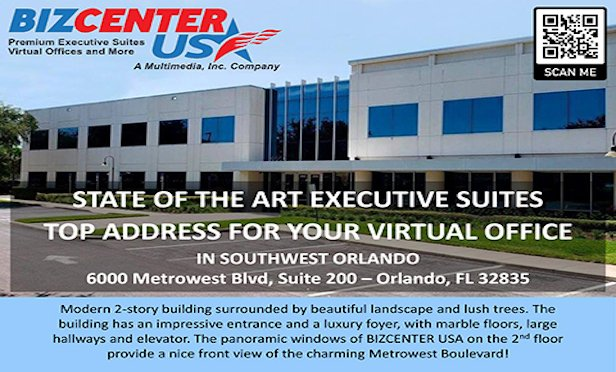 The first BIZCENTER USA co-working facility is located in 4,400 square feet of space in Southwest Orlando.