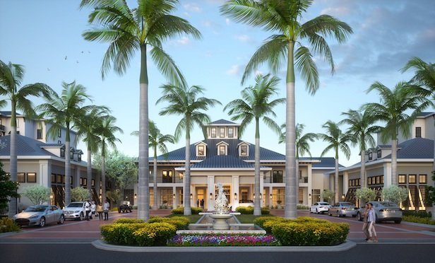Wellington Bay's main building will house 224 independent living units, two outdoor resort style pools, an indoor pool, formal and informal dining, a bistro and bar, and expansive exercise and group fitness areas.